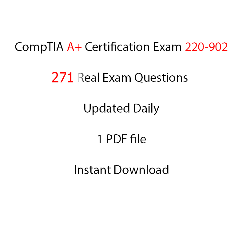 Comptia A Certification Exam 220 902 271 Questions Itil
