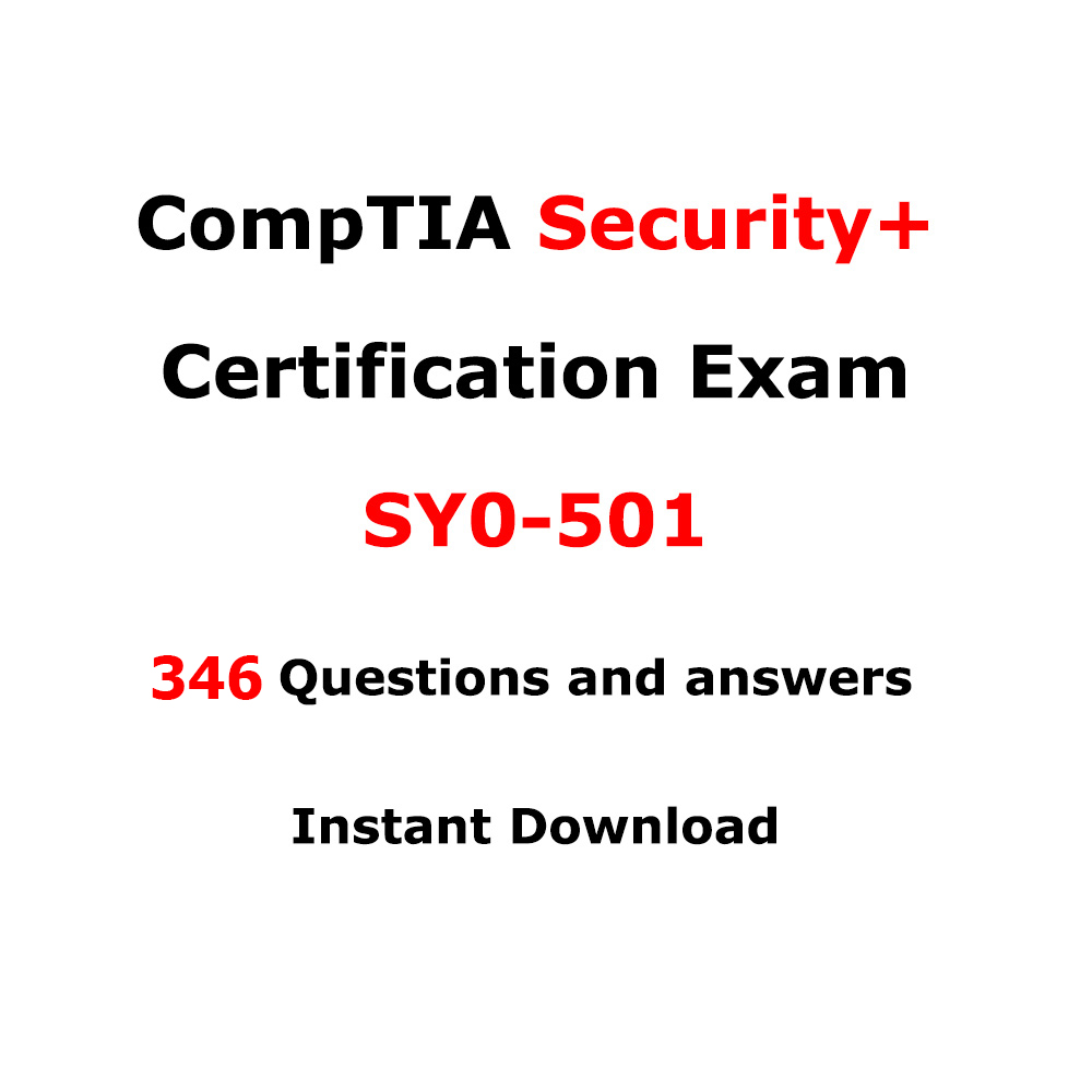 Comptia Security Sy0 501 360 Questions And Answers Itil