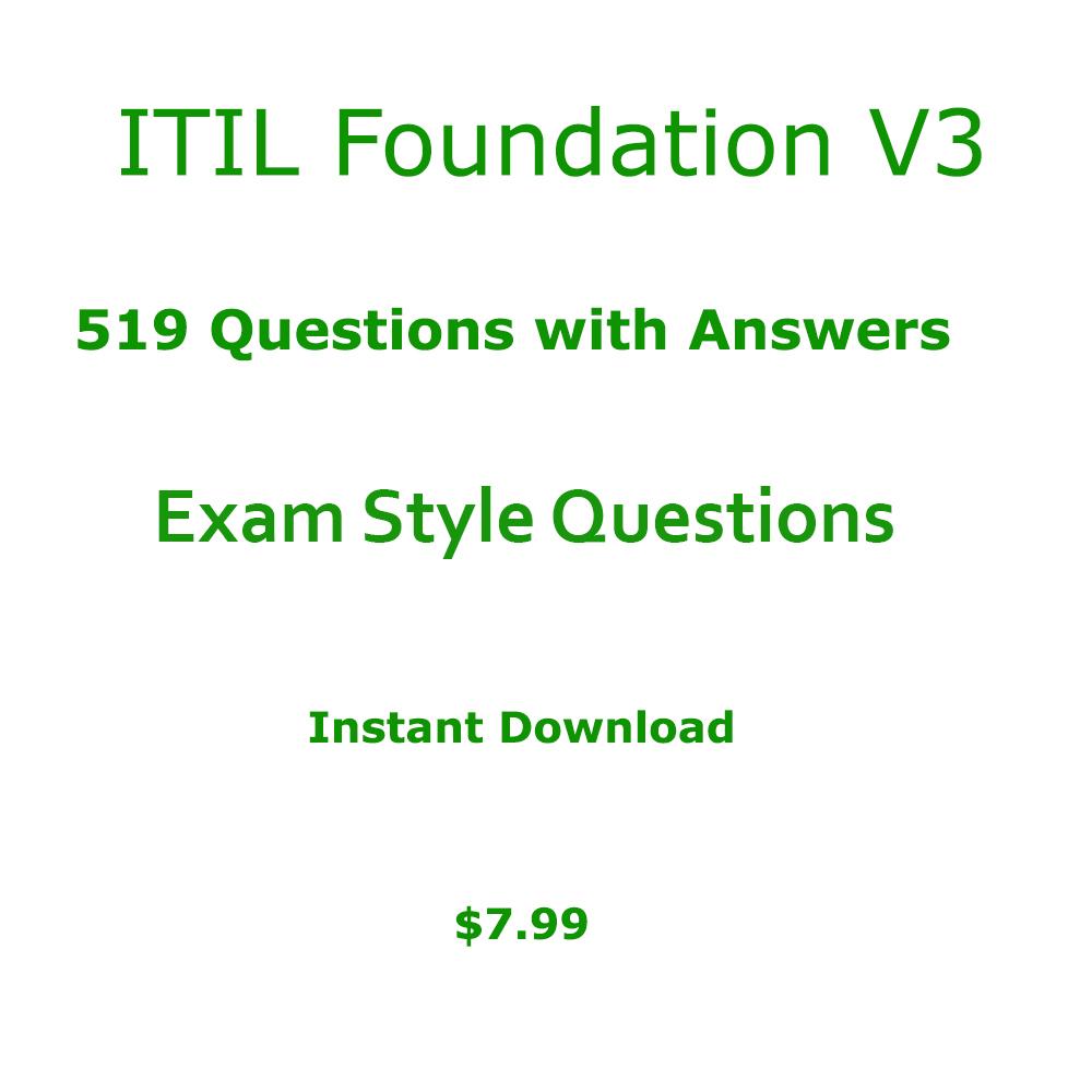 Itil Foundation V3 Pdf Itil Foundation Exam Online Test Samples