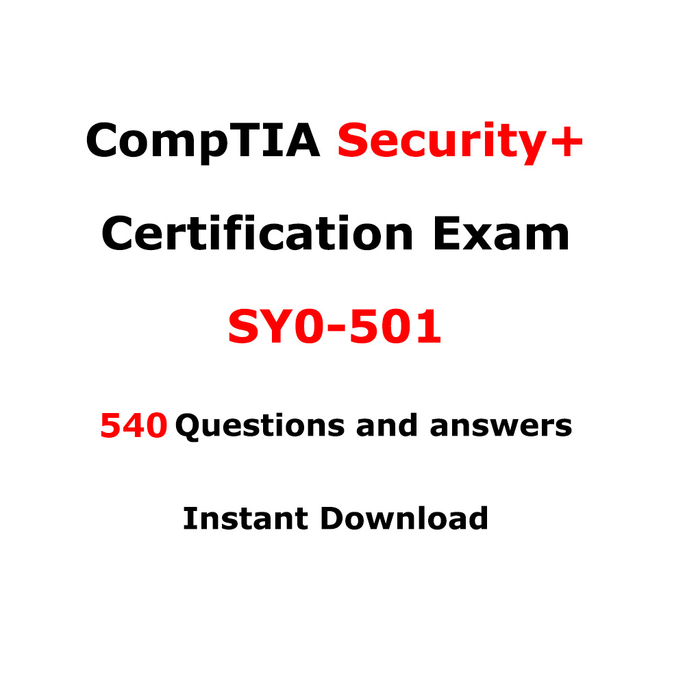 Comptia Security Sy0 501 540 Questions And Answers Itil